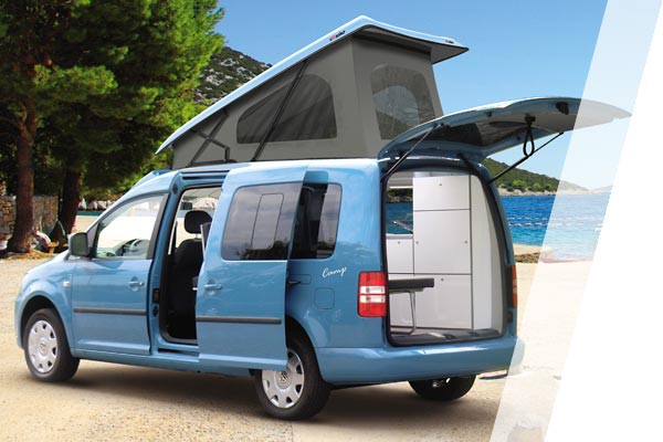 volkswagen caddy maxi mini camper mees mobility center. Black Bedroom Furniture Sets. Home Design Ideas